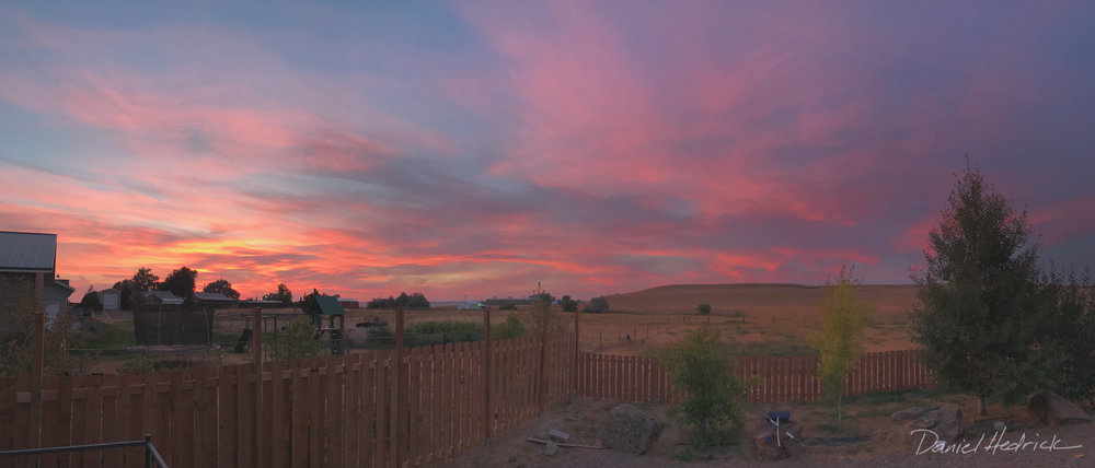 Non-smoky sunset