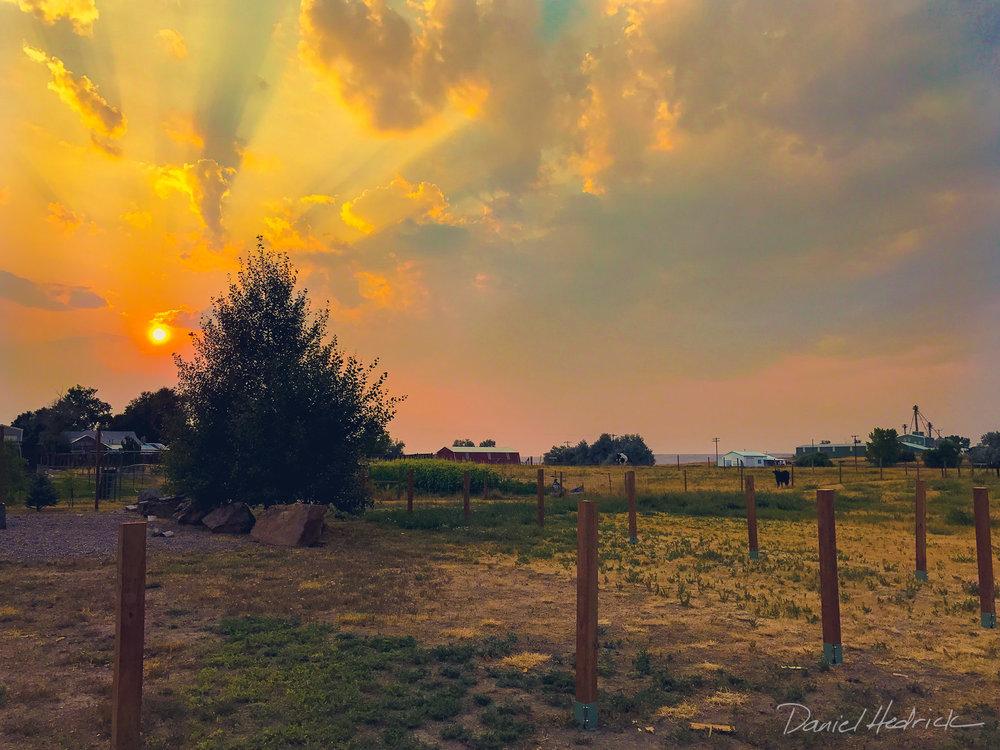 Smoky sunset
