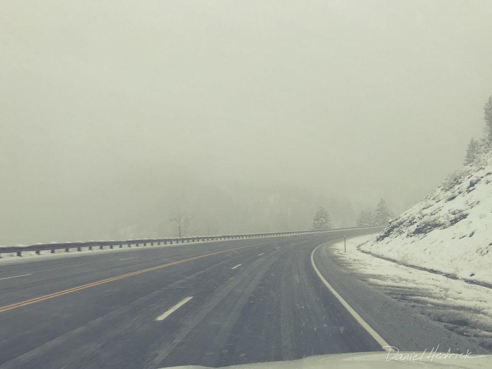 Bit of snow on the pass
