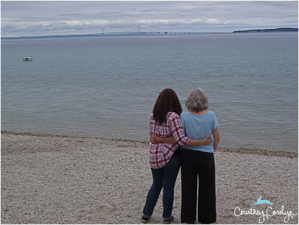 My mom and I on Mackinaw Island.