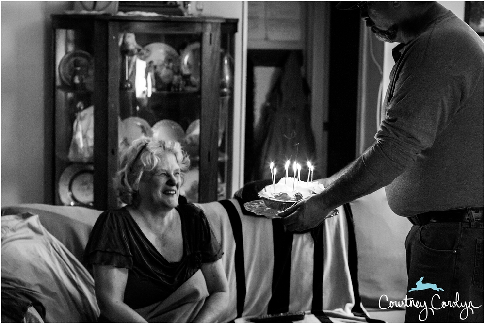 One of my favorite pictures of my mom that I took at her birthday last year.