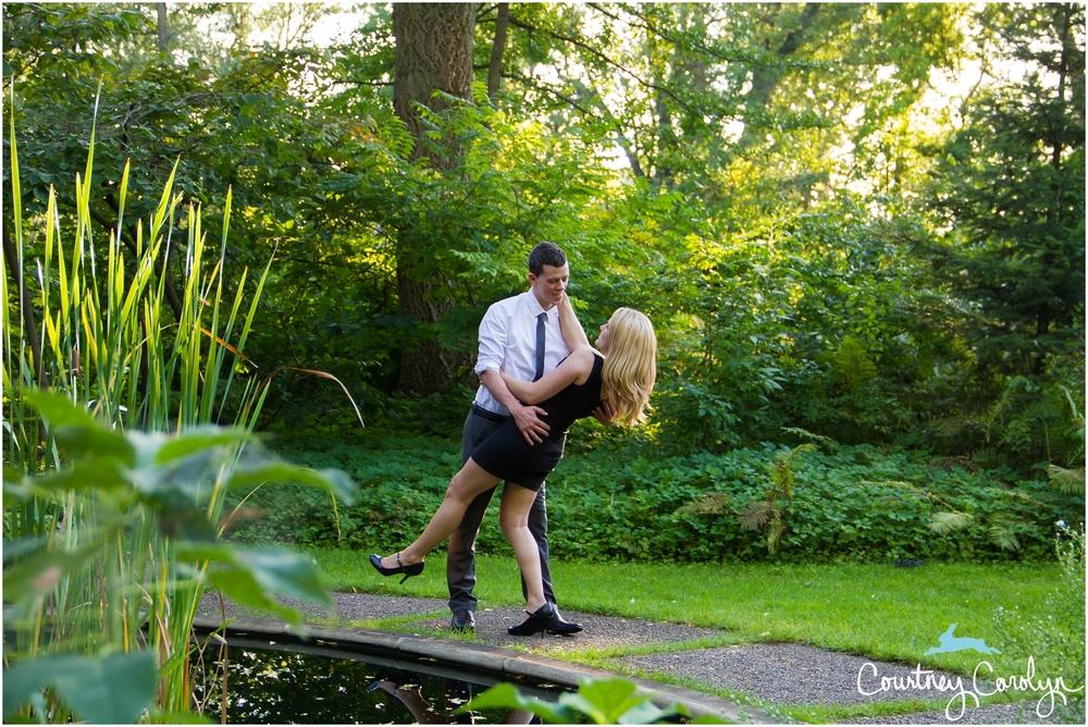 Romantic Secret Garden Engagement On Michigan State Campus
