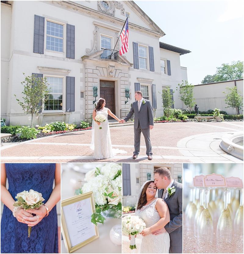 Navy Blush Gold Grosse Pointe War Memorial Wedding Ericka Mike September 28