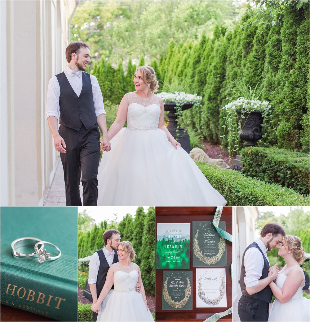 Elegant Lord of the Rings Inspired Wedding, in Howell, MI: Madison + ...