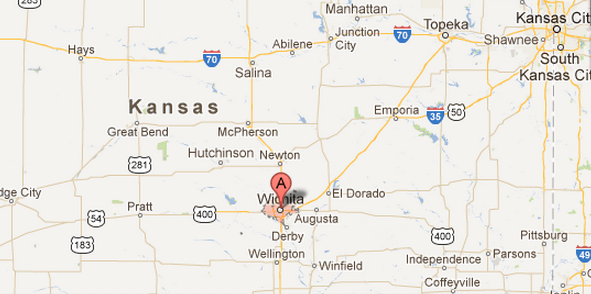 Wichita, Kansas according to Google Maps