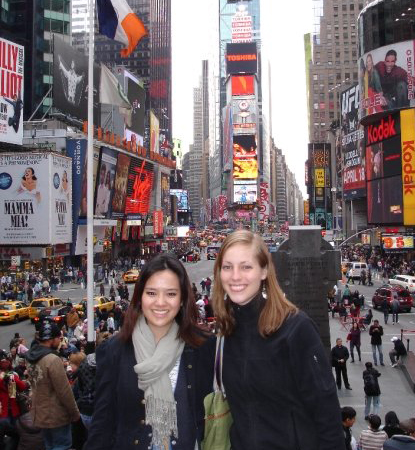 me and Mary in NYC, 2008