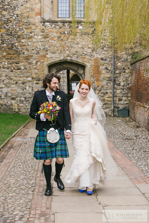 Canterbury wedding photographers Tom & Lizzie