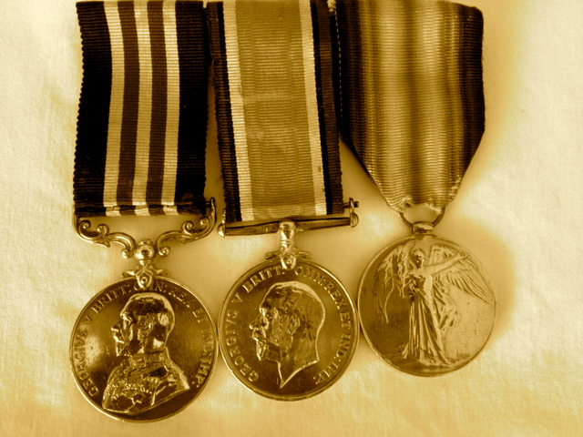 Sgt. Mitsui's war medals