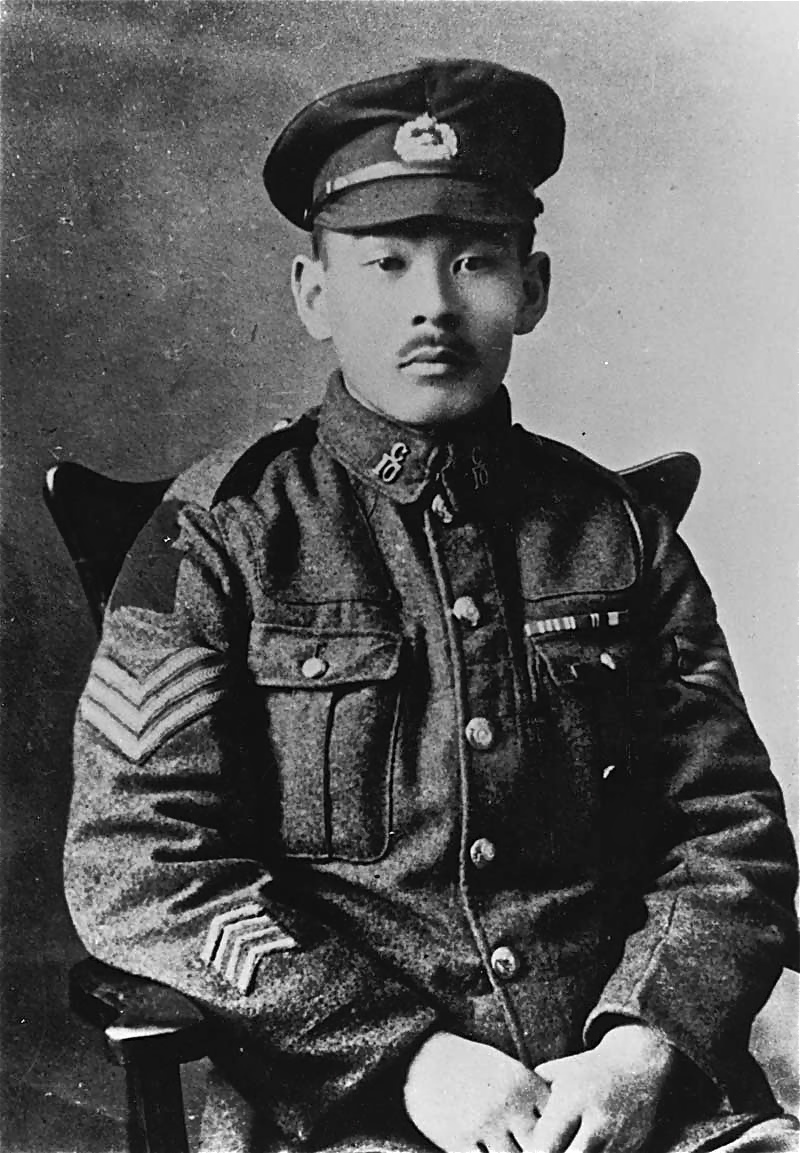Sgt. Mitsui with the 10th Battalion of the Canadian Expeditionary Force.
