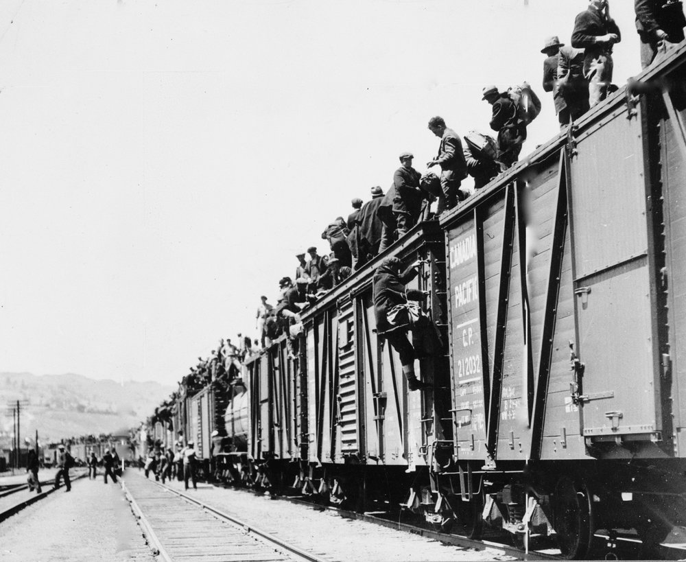 There were 1300 men atop the protest train when it reached the deadly Spiral Tunnels of the Kicking Horse Pass. Their number would climb to more than 2,000 before the protest was derailed by political treachery.