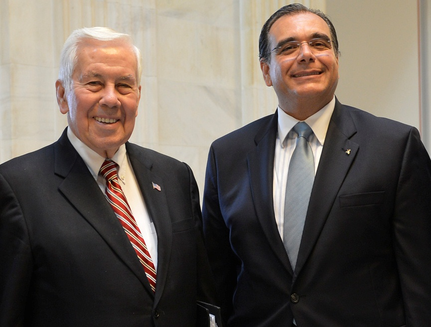 From left, former Senator Richard Lugar of Indiana, and Dr. Juan José Daboub