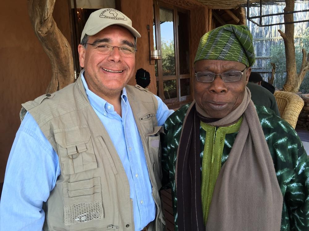 From left, Dr. Daboub, and former President of Nigeria Olusegun Obasanjo