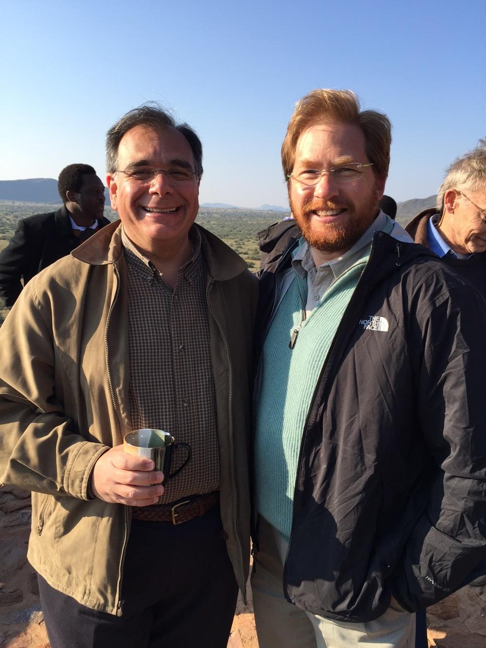 From left, Dr. Daboub and Jonathan Oppenheimer of Anglo American, De Beers, Oppenheimer Diamonds. President of the Brenthurst Foundation