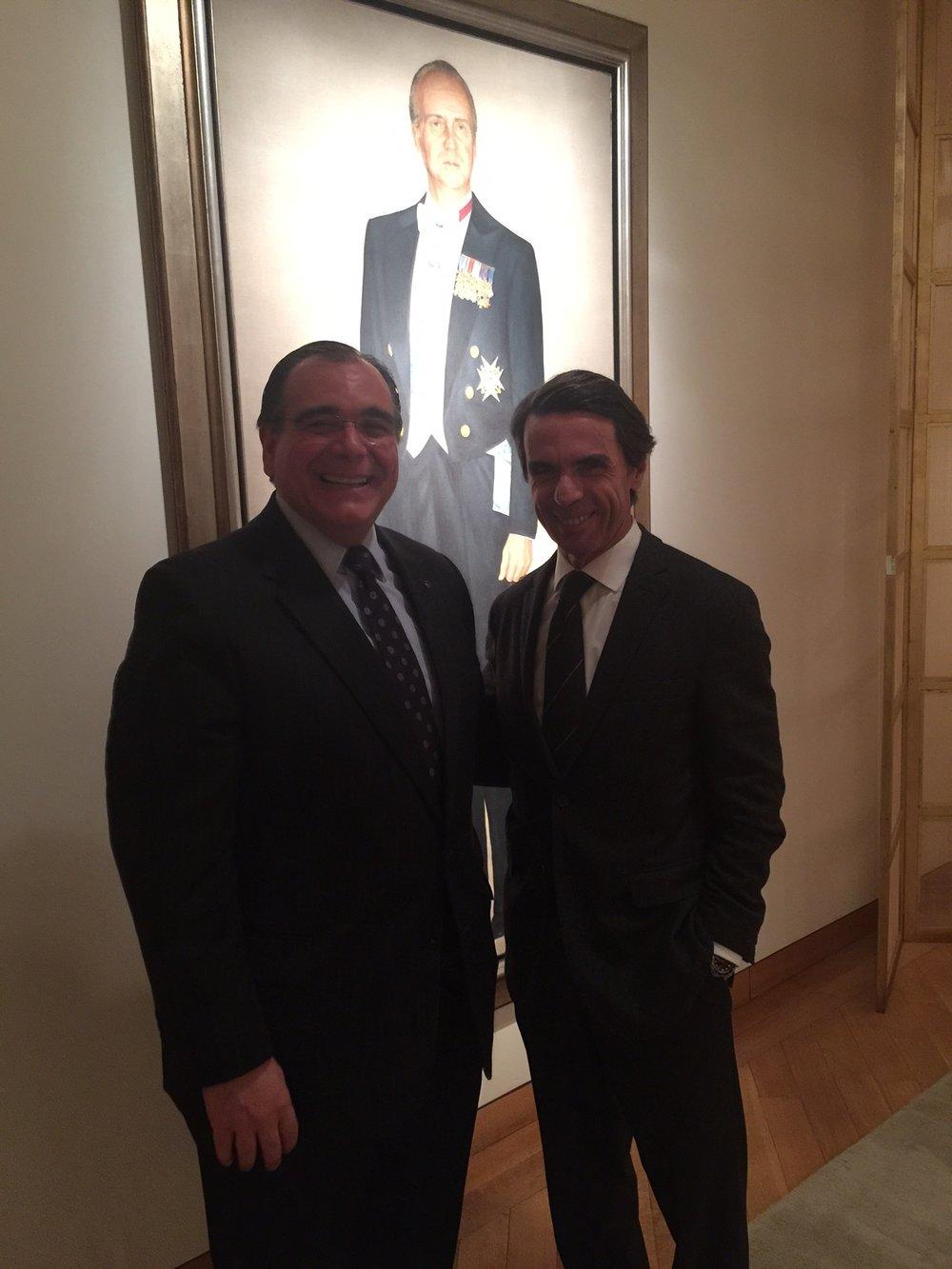 Juan José Daboub with Former President of Spain, José María Aznar