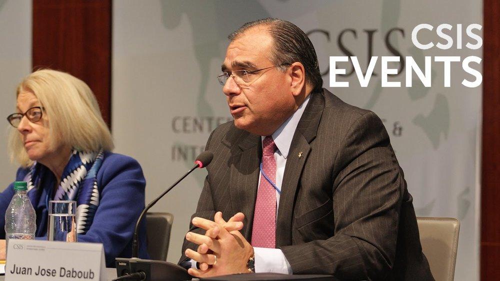 Dr. Juan José DABOUB AT THE CSIS 2017 GLOBAL DEVELOPMENT FORUM