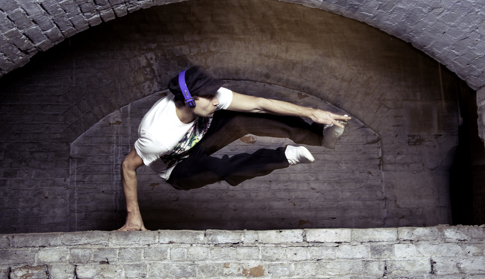 FreeRunner Wireless Headphones - Blue Parkour Jump 1500pix.jpg