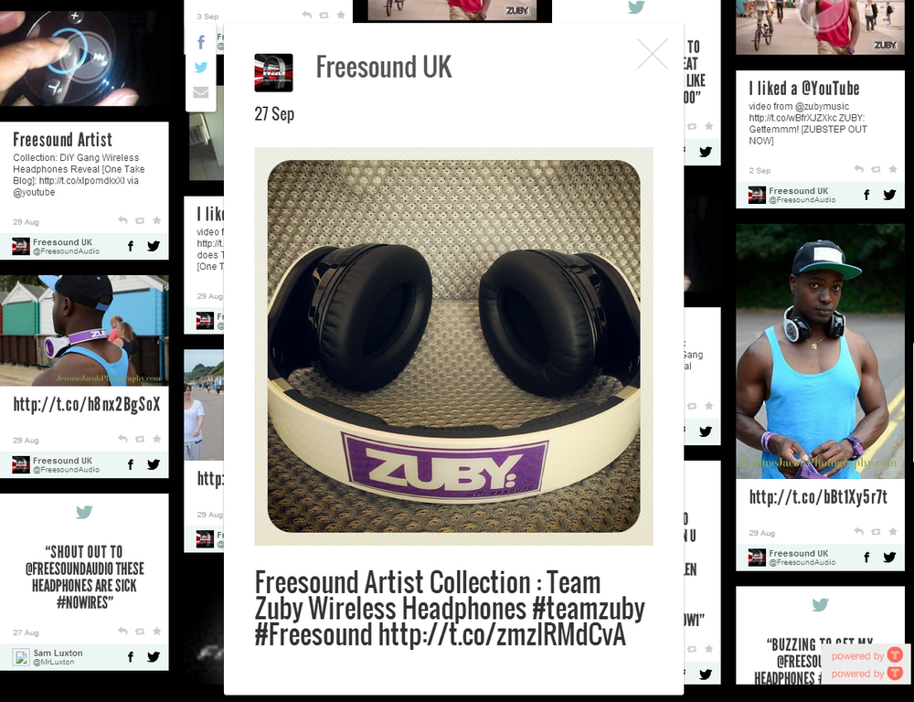 Team Zuby Wireless Freesound Headphones