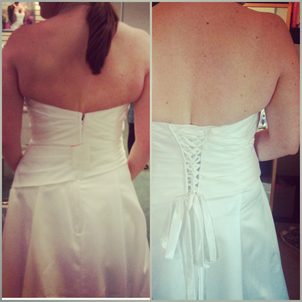 Turmec strapless wedding dress too small