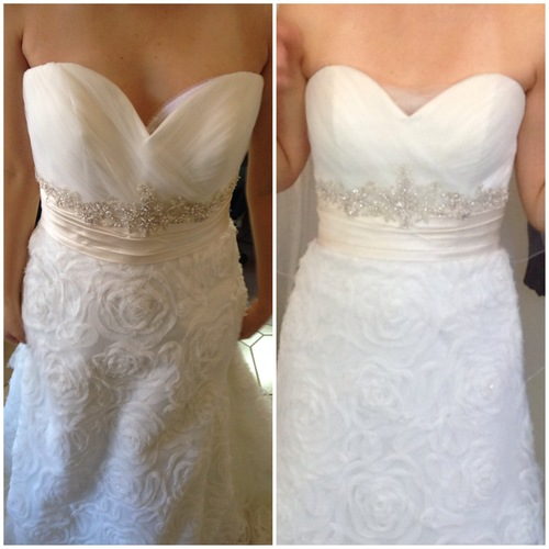 Dress alterations before and after re re