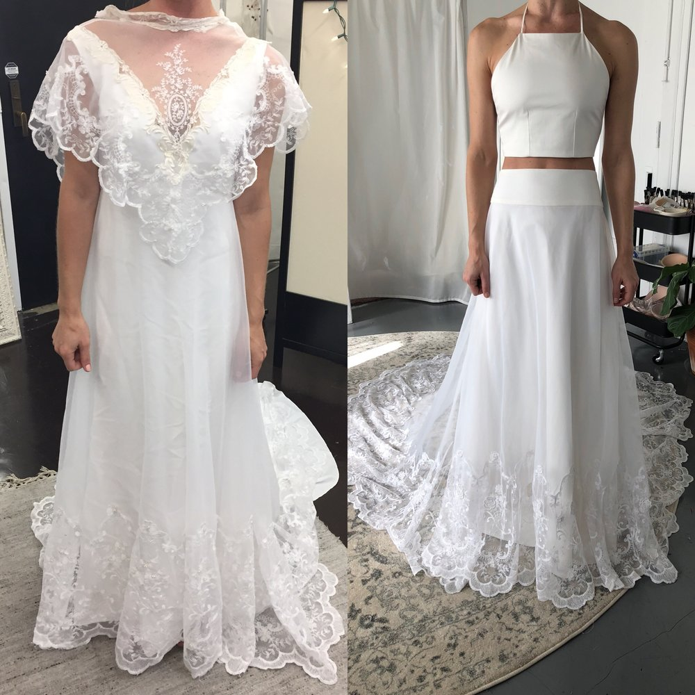 Wedding Dresses Before And After Alterations Ficts