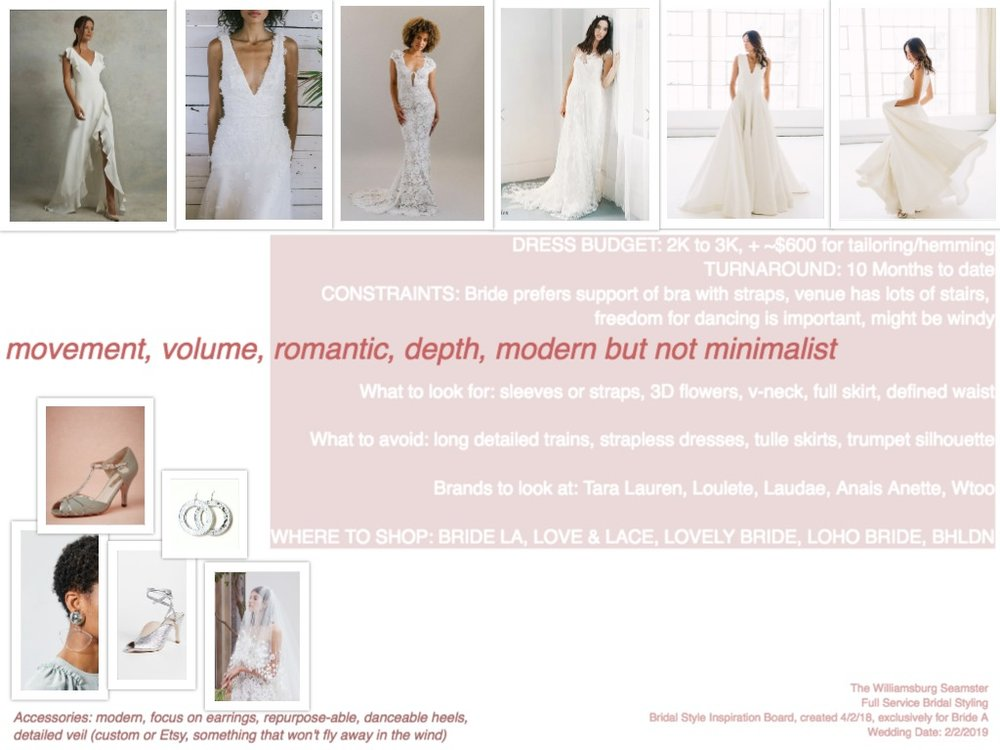 Sample Personal Bridal Style Recommendations