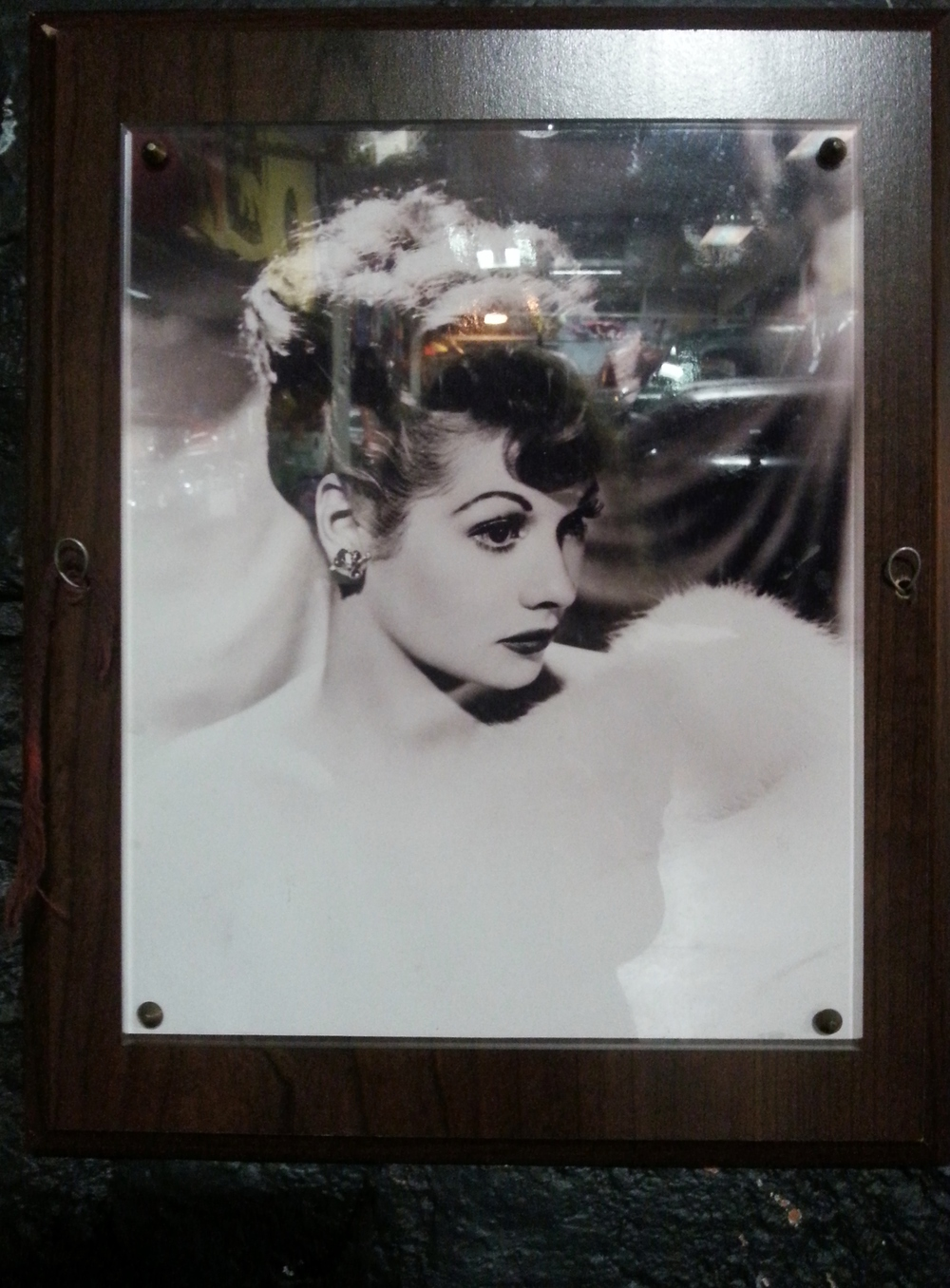 A photo of Lucille Ball can be found in our car room. Will you be able to spot it?