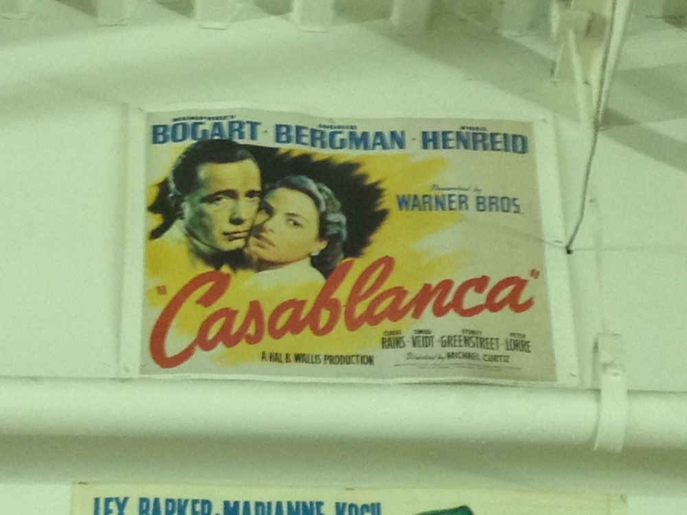 We have a  Casablanca  movie poster on the tour. Think you can find it?
