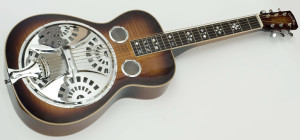 THIS IS A DOBRO! read more about it here: http://en.wikipedia.org/wiki/Dobro