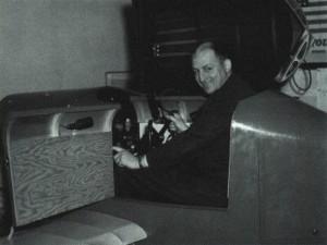 Edwin Link, Jr. in a simulator c. 1943