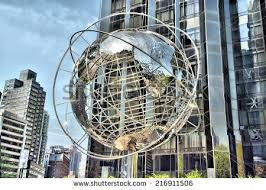 So, this is what our gorgeous globe looks like - BUT this is not our location. We are not in Columbus Circle, Manhattan, but you will see our replica globe right outside our entrance in Oaks, PA!