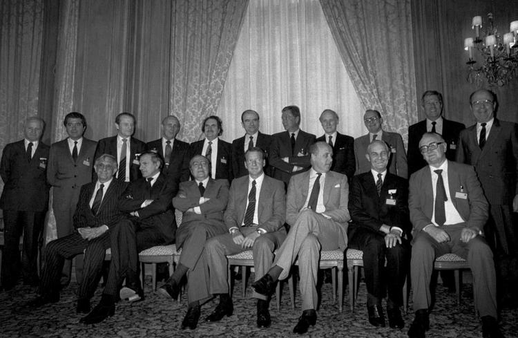 Miembros fundadores de la ERT. Paris, 1983