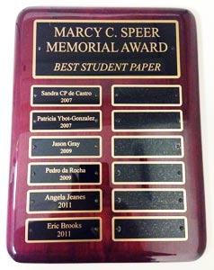 Marcy C. Speer Memorial Award