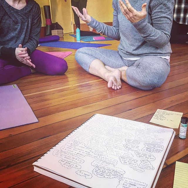 "We sat for two hours and distilled it down to this :: 1. Define your role -- what is your ""sacred job""? 2. What gives you goosebumps? Brings you to tears? Sends a chill up your spine?  3.  Embody ONE thing --- to awaken your highest service, ignite your flame... and do it every single day -- 🙏🏻❤ Know thyself. Show thyself. Be thyself.  FIRE KEEPERS:::: Alignment, personal power and potency are the same across the board -- So..... if you are a Yoga Teacher in the #pnw -- we are doing it again.  This Sunday -- We come together as ""Fire Keepers"" of yoga and our personal authenticity.... to simultaneously stand in our power and our vulnerability.... 🔥❤ It's all here: http://bit.ly/2mHnAVC  Come if you are called.  #yoga #portlandyoga #firekeeper #impact #yogateacher #pdxyogascene"