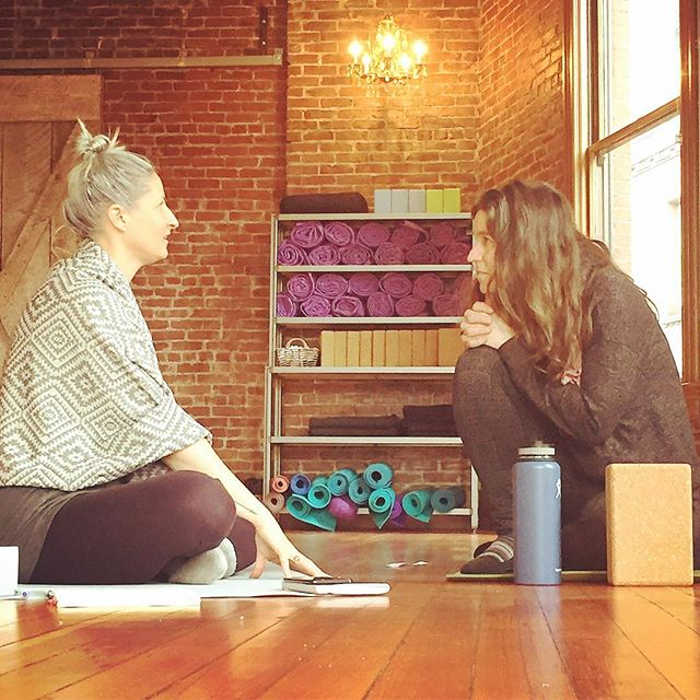 """Never doubt that a small group of thoughtful committed citizens can change the world. Indeed, it is the only thing that ever has."" -Margaret Mead . . Love these two beautiful yoga teachers and powerful women.... and all the others who joined our yoga collective yesterday as we explored the ""promise of yoga"" and how we are all ""fire keepers"" in our own, unique ways... Self-care, Self-trust, clear voice, and holding an open-hearted space for yoga students everywhere to realize that well-being is within the realm of possibility and that with awareness and presence, we are holding sacred space for great things.... what a beautiful way to spend a Sunday afternoon🙏🏻❤ #holdsacresspace #yoga #pilgrimoflight #yogateacher #yogacollective #liveyouryoga  #practiceyogaeveryday #firekeeper"
