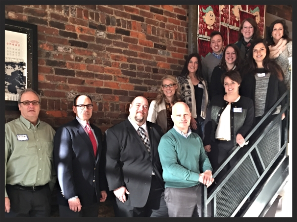 Cincinnati PRSA's leadership team with Joseph Truncale and Mark McClennan, bottom row, center.