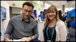 Simon Sinek and Sara Cullin.