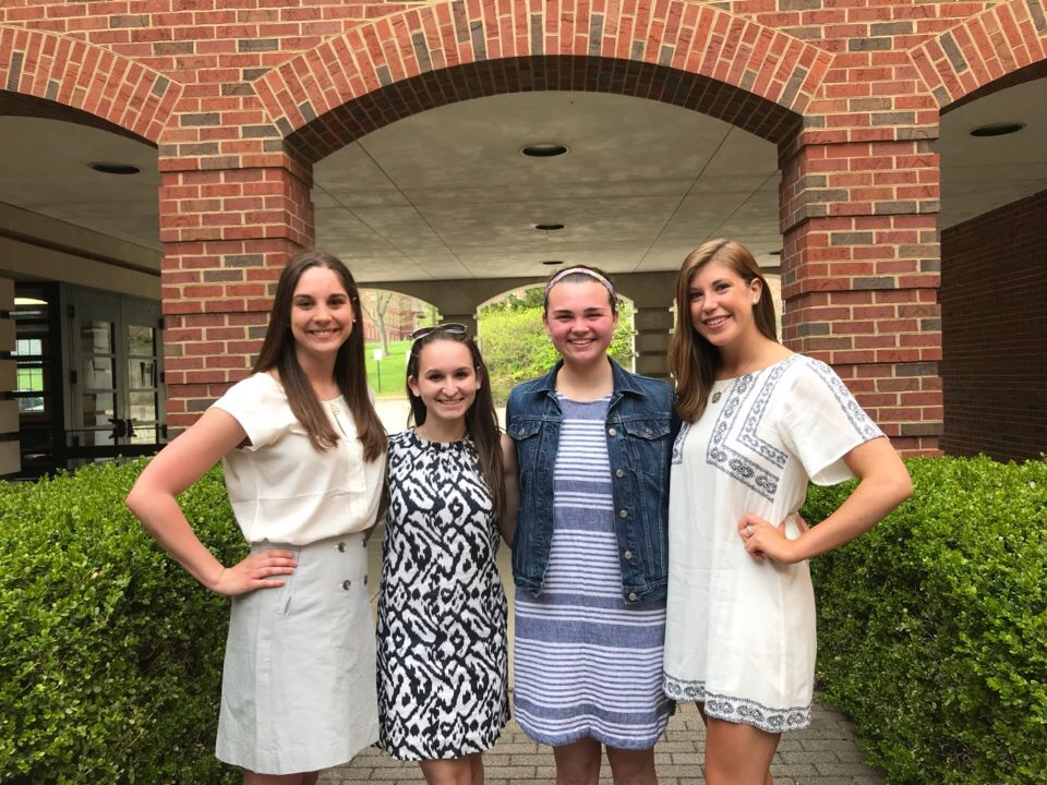 Miami University's Bateman competition team of strategic communication students Allison Pierce, Maddie Malloy, Maddie O'Toole, Vivian Drury (left to right). Not pictured is team member Alec Hoelker.
