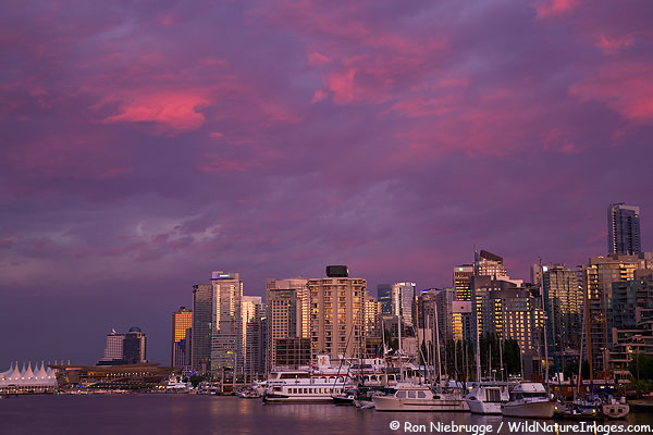 Vancouver skyline. Photo by Ron Niebrugge www.wildnatureimages.com