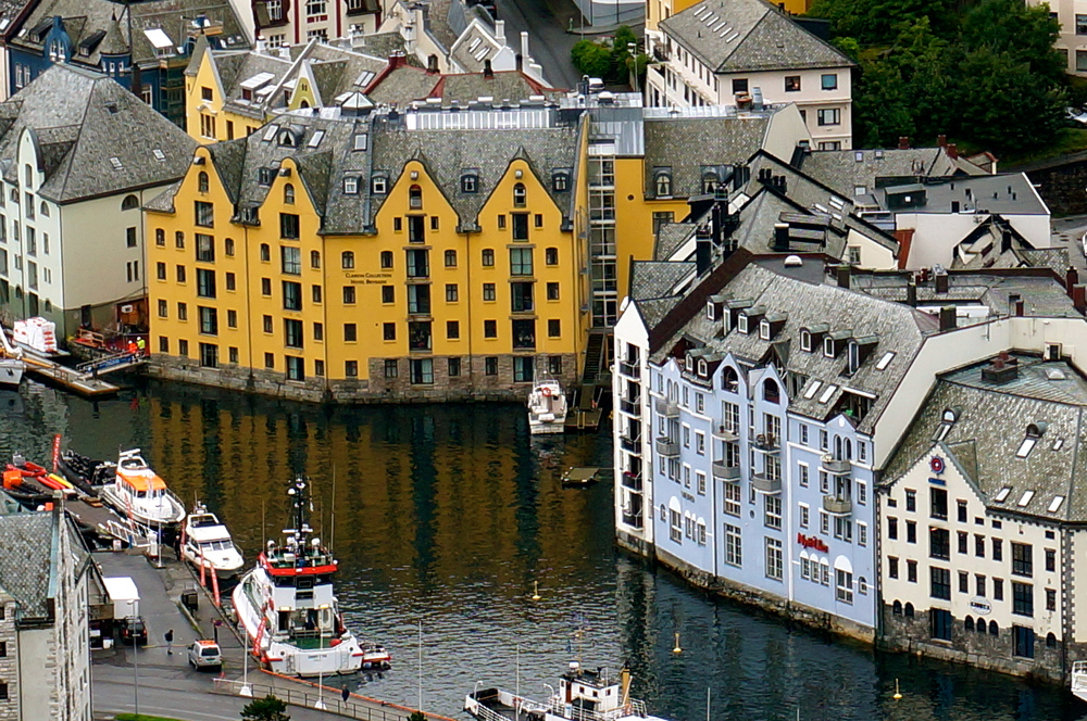 The beautiful town of Alesund is worth a visit