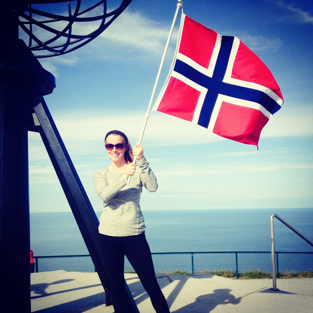 A trip to The North Cape, continental Europe's northernmost point, was a highlight. Flag was a bonus.