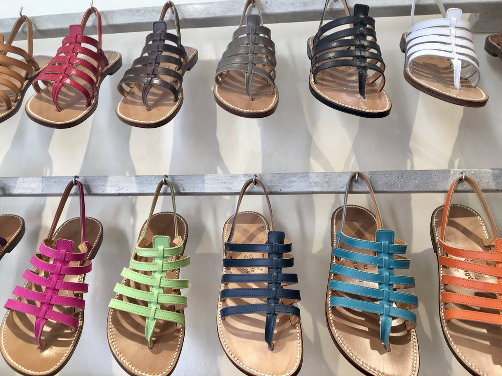 Rondini's classic tropézienne sandals are still the best seller.