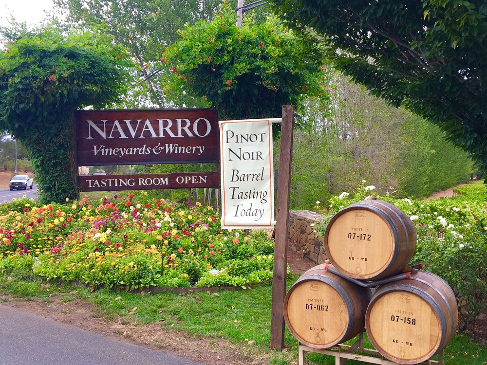 Navarro is just one of the many wineries open to the public, and where I happened to learn a few words of Boontling