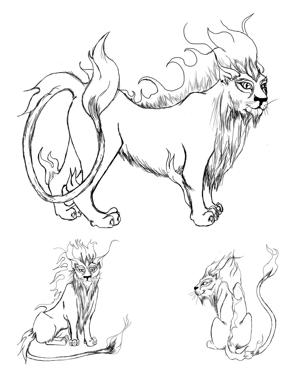 Feline Fire Elemental