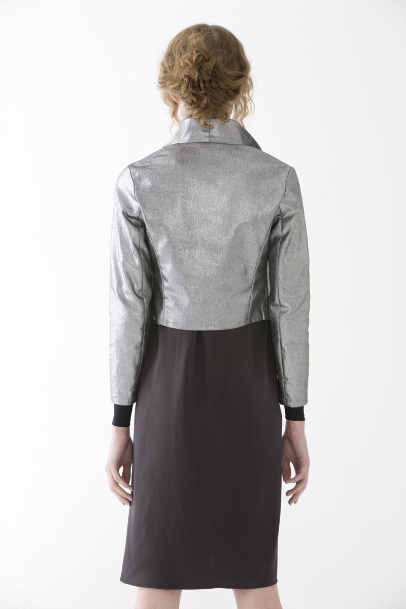 Crop Silver Jacket
