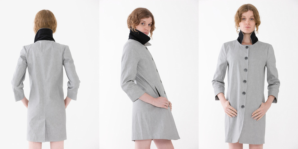 Trench For Life   This elegant Trench coat is unique. It's fabric primed inside with water based paint, makes it for the ultimate water resistant canvas. This piece will last a lifetime while softening and aging beautifully and gracefully. %100 Linen I Made in NYC