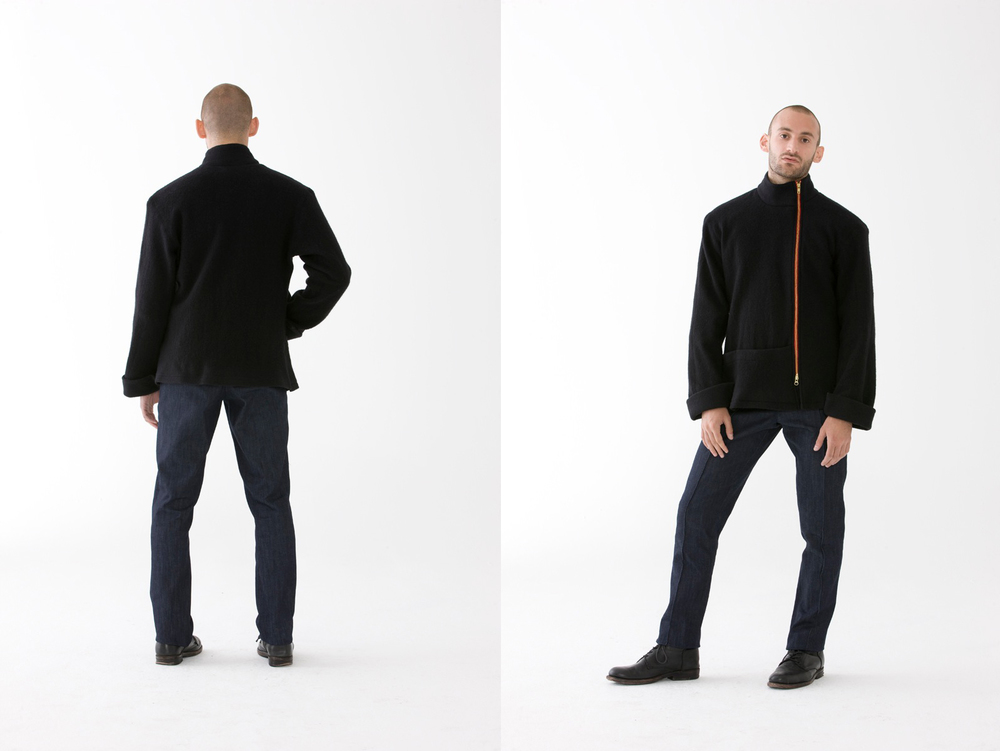 Clean Is The Scene Jacket   This jacket is both utilitarian and fashion friendly. The rich fabric is durable yet flexible. It can be worn alone or as an underlay.  100% Boiled Wool | Made In NYC