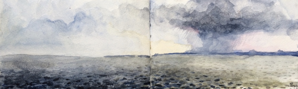 Storm Over Row Hedge: On the North Sea