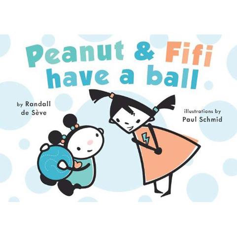 Peanut & Fifi have a ball by Randall de Seve