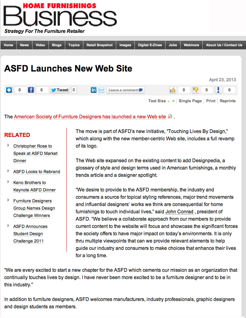 HFB: ASFD Launches Website