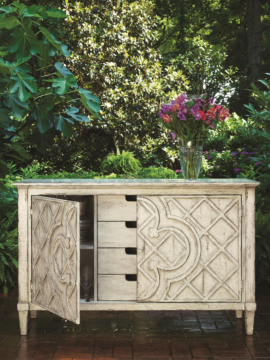 Jardin Lattice Console Claire Bryson The Biltmore Collection;                           Fine Furniture Design & Marketing
